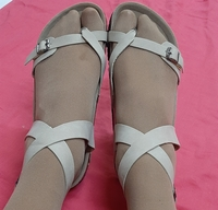 Used Ladies peeps, lovely beige, 35 size in Dubai, UAE