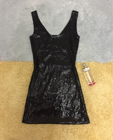 Black Sequins Dress