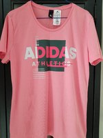 Used Adidas pink shirt size Large in Dubai, UAE