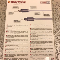 Promate LinkMate-LTC USB-C And Lightning Cable.