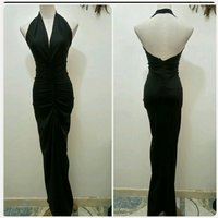Black long dress backless brand new