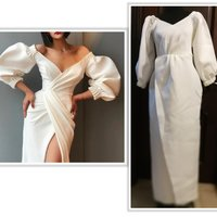 Used Sexy white night spongey gown size L in Dubai, UAE