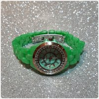 Watch green color timeco