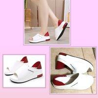 Used New white comfy n red sandals size 40 in Dubai, UAE