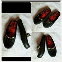 Used Black open shoes available size-37-39... in Dubai, UAE