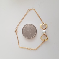 New real gold diamonds and pearl