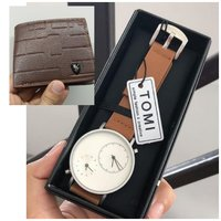 Used Original TOMI Watch》+Leather Wallet FREE in Dubai, UAE