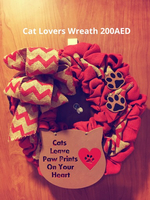 Cat lovers decorative wreath