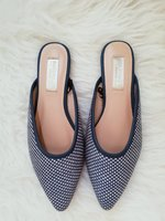 Used Pointed toe mules blue and white in Dubai, UAE