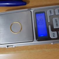 Used 18k real gold simple band ring in Dubai, UAE