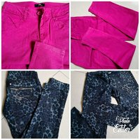 Used 2 Jeans pink and blue only 10 Aed each in Dubai, UAE