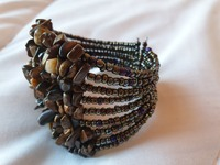 Used Real tiger's eye  stone crystal bracelet in Dubai, UAE