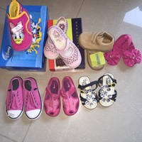 Used Disney pink shoes- size 26 (brand New) aed50 Pink Pablosky- size 25 worn few times: aed 50 Gymboree brown shoes-size 3: AED40 Pink Koala baby shoes new:size 5- AED 40 Pink Polo RL shoes:size 8 Aed 50 Pink Nike shoes:size 7 Aed30 Blue sandal: size 4 aed 20 in Dubai, UAE