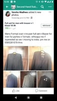 Used Full suit coats for men n sherwani for m in Dubai, UAE