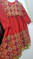 Used Red embroidered frock style in Dubai, UAE