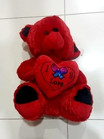 Used Teddy Bear with I Love You Heart Pillow in Dubai, UAE