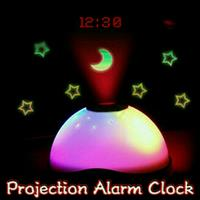 Starry Digital Medical Magic LED Projection Alam Clock Color Changing Night Light