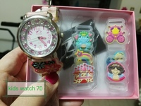 Nice kids watch with replacable charms