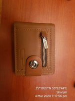 Brwon leather men Wallet