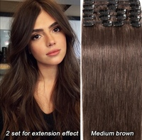 New hair remy clip extension 100% human
