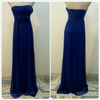Chob long dress blue color small size