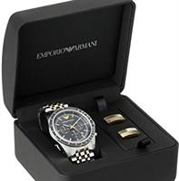 Emporio Armani Sport Watch & Cufflinks Gift Set