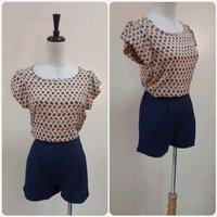 Used Fabulous top with Navy blue Short.. in Dubai, UAE