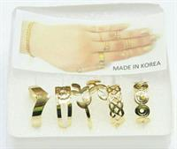 "FINE JEWELRY  ""5-Pieces Finger Rings"""