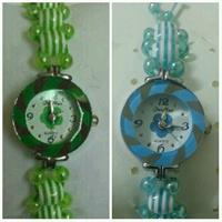 Two Kids Watch..green Color And Nlie Color