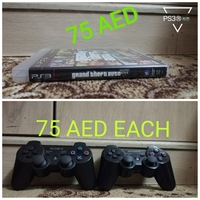 Used PS3 GTA5 AND CONTROLLERS in Dubai, UAE