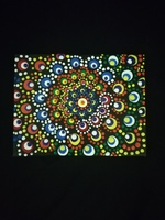 Used Acrylic painting Dot mandala 13x10 cm in Dubai, UAE
