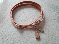 Used New pink PU leather bracelet in Dubai, UAE