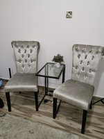 Used 2 chairs with a glass table in Dubai, UAE