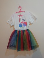 Used Tutu dress colorful for princesses (1pc) in Dubai, UAE