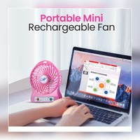Used New pink portable mini strong fan in Dubai, UAE