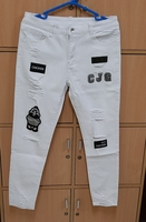 Used Large size white jeans ! in Dubai, UAE