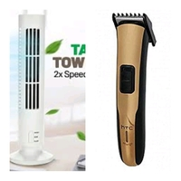 Used Men's hair trimmer +Table tower USB fan in Dubai, UAE