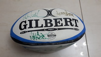 Gilbert Rugby ball signed by Bali Legend