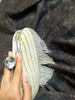 Used Silver stylish brand new clutch in Dubai, UAE