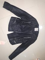 Used Black faux leather jacket in Dubai, UAE