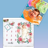 Used Baby bundle floating ring + photo sheet in Dubai, UAE