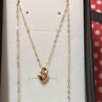 Heart Necklace#18kgold#italygold#brandnew#thin But Look So Elegant