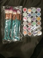 Used 24 pcs glitter set and 6pcs brush set in Dubai, UAE