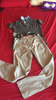 Used Zara kids 9-10 yrs new  trousers&tshirt  in Dubai, UAE