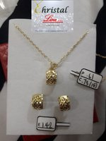 Used 18K REAL GOLD NECKLACE WITH EARRINGS in Dubai, UAE