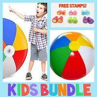 Used Kids Giant Water Ball + Stamp Set in Dubai, UAE