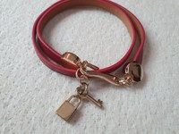 Used New PU red leather bracelet key and lock in Dubai, UAE