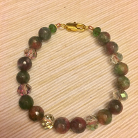 Agate Stone Bracelet With Crystals