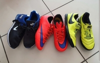 3 pairs Nike shoes for kids size 35