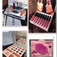 #kylieKkw Set8in1 Lipgloss Matte Colors #Chanel Set Make Up W 2 Pieces Perfume 20ml #BHcosmetic 21 Colors Eyeshadow And Highlighter Blush On #Pilaten One Stick Lips Mask Liptreatment ! Super Combo Always Sending To U Dears ! My Pleasure